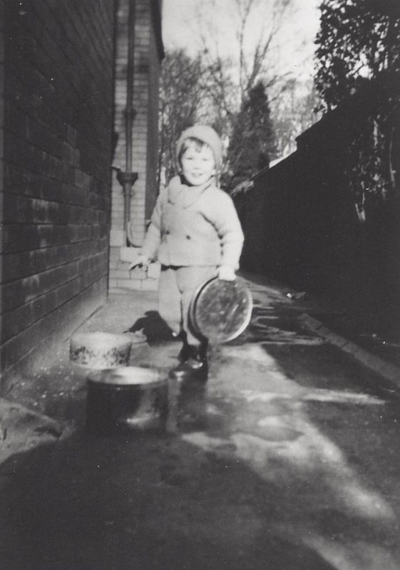 A very young percussionist, 4 Norfolk Road, Lytham St Annes, 1937