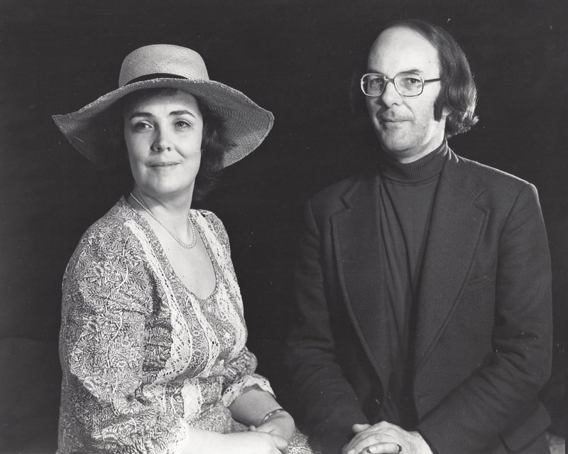Meriel and Peter Dickinson, late 1960s (<em>photo: Camilla Jessel</em>)