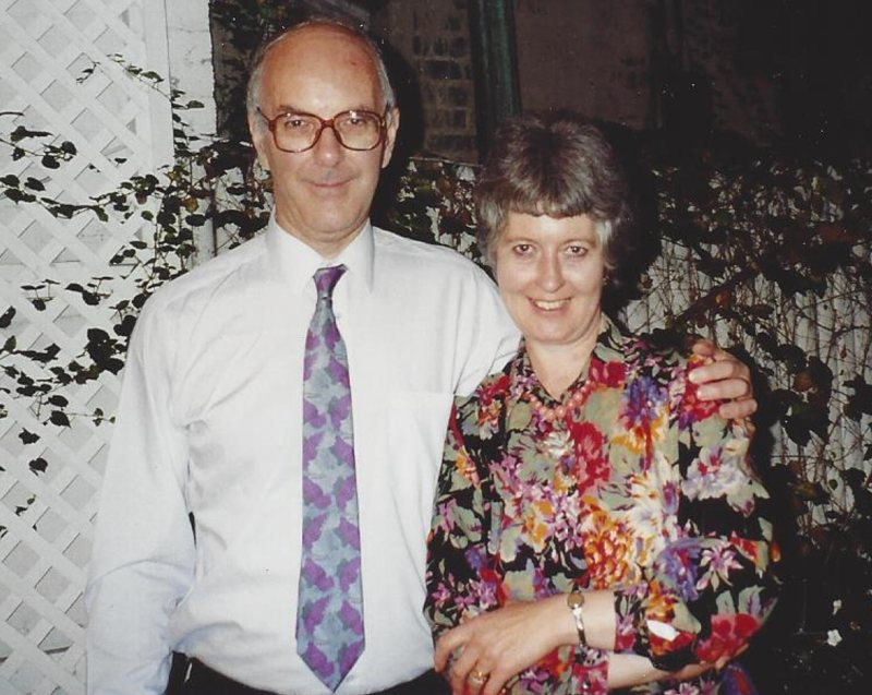 Peter and Bridget Dickinson, New York, 1990 (<em>photo: Gerald Shapiro</em>)