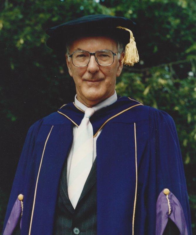 Hon D Mus awarded at Keele University by Chancellor Lord Moser in 1999